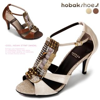 Buy HOBAK girls Beaded T-Strap Sandals 1022595678