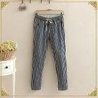 Straight-Leg Striped Pants 1596