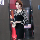 Long-Sleeve Leopard-Print Dress 1596