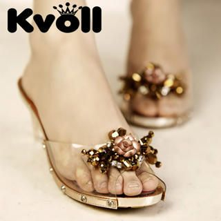 Buy Kvoll Beaded Clear Mules 1022991732