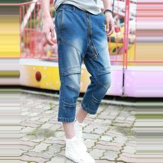 Buy JBROS Cropped Baggy Jeans 1022998659