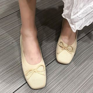 Image of Bow Knit Flats