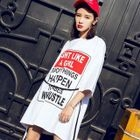 3/4-Sleeve Printed Mini Dress 1596