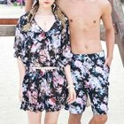 Couple Matching Floral Print Bikini with Cover-up / Swim Shorts 1596