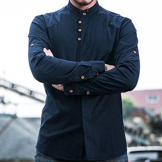 Long-sleeve | Collar | Stand | Shirt