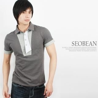 Buy SEOBEAN Contrast-Trim Short-Sleeve Polo Shirt 1022453295