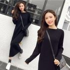 Midi Ribbed Knit Dress 1596