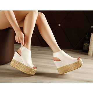 Peep Toe Platform Wedge Espadrille Sandals 1050660355