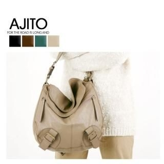 Picture of AJITO Faux-Leather Hobo 1021973483 (AJITO, Hobo Bags, Korea Bags, Womens Bags, Womens Hobo Bags)