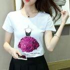 Sequined Short Sleeve T-Shirt 1596