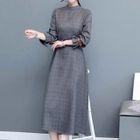 Plaid Long-Sleeve Dress 1596