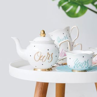 Lettering Mug / Lettering Teapot / Leaf Plate / Heart Spoon / Set: Lettering Coffee Cup with Saucer / Set of 2: Lettering Mug 1066843070