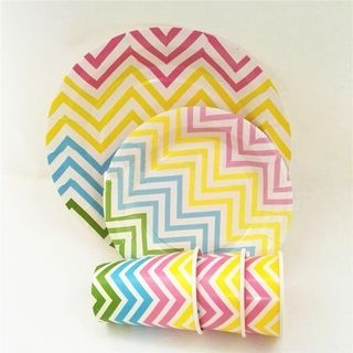 Chevron Disposable Plates / Cups 1057040926