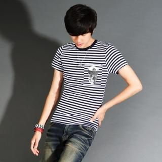 Buy Style Engine Short-Sleeve Stripe T-Shirt 1023012907