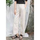 Mid-Rise Wide-Leg Cotton Pants 1596