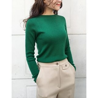 Boat-Neck Knit Top 1060120353
