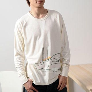 Buy Namitatsu [Men] Long-Sleeve Print Tee Ivory – Men One Size 1021094692