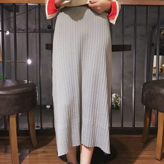 Ribbed Midi Skirt 1062427345