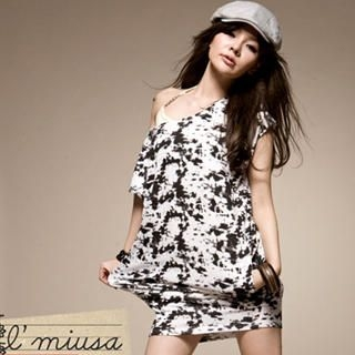 Buy I'Miusa Acid Washed Print T-Shirt Dress 1022330156