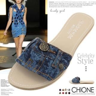Buy Chione Denim Mules 1022926447