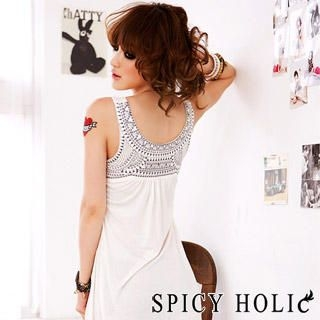 Buy SPICY HOLIC Embroidered Tank Dress 1022852611