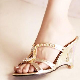 Buy Kvoll Rhinestone Wedge Sandals 1022747405