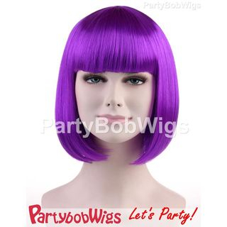 Purple | Party | Short | Neon | Wig | Bob