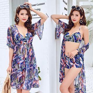 Swim Set: Patterned Bikini + Beach Cover 1064655620