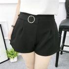 Plain Pleated Shorts 1596