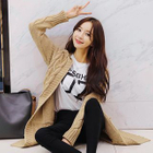 Cable-Knit Long Cardigan 1596