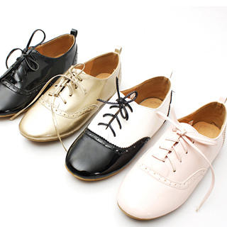 Buy KAWO Lace-Up Patent Flats 1022761205