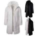 Image of Faux-Fur Open Front Coat