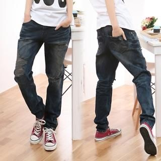 Buy Jean Stone Frayed Jeans 1022159777