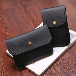 Faux Leather Crossbody Bag / Phone Pouch