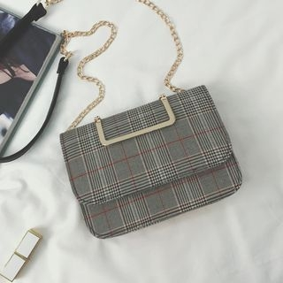Plaid Crossbody Bag