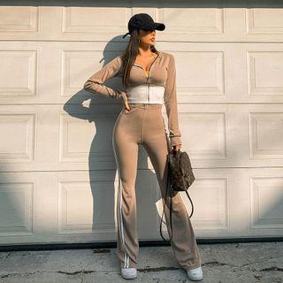 Slim-fit   Two-Tone   Hoody   Pant