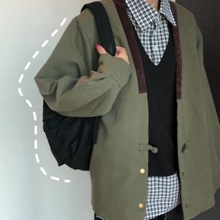 Vintage | Jacket | Cargo | Green | Army | Size | One