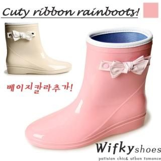Buy Wifky Bow Accent Ankle Length Rain Boots 1022951781
