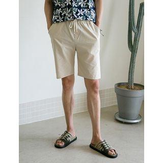 Drawstring-Waist Cotton Shorts 1060997734