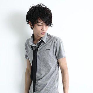 Serush Polo Shirt With Tie 1022775721 Mens Asian Apparel