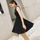 Sleeveless A-Line Dress 1596