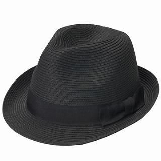 Buy GRACE Bow-Accent Woven Fedora Black – One Size 1022238656