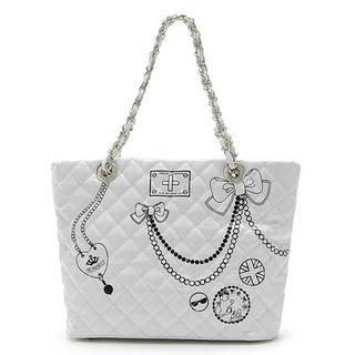 Picture of Vemo Quilted Handbag White - One Size 1022778590 (Vemo, Handbags, Taiwan Bags, Womens Bags, Womens Handbags)