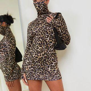 Long-sleeve | Leopard | Dress | Print | Mini