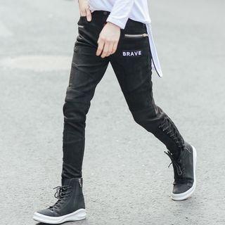 Lace-Up Slim-Fit Pants