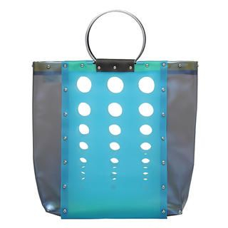 Geometry Tote Bag Blue & Navy - One Size 1034606504