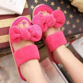 Bow-Accent Slippers
