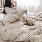 Set: Patterned Pillow Case + Bed Sheet + Duvet Cover 1596