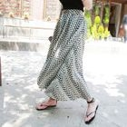 Band-Waist Pattern Long Skirt 1596