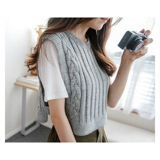 Sleeveless Cropped Knit Top 1052708908
